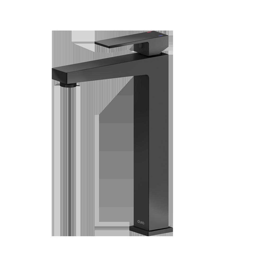 Svart kran til baderomsmøbel fra Duxa
