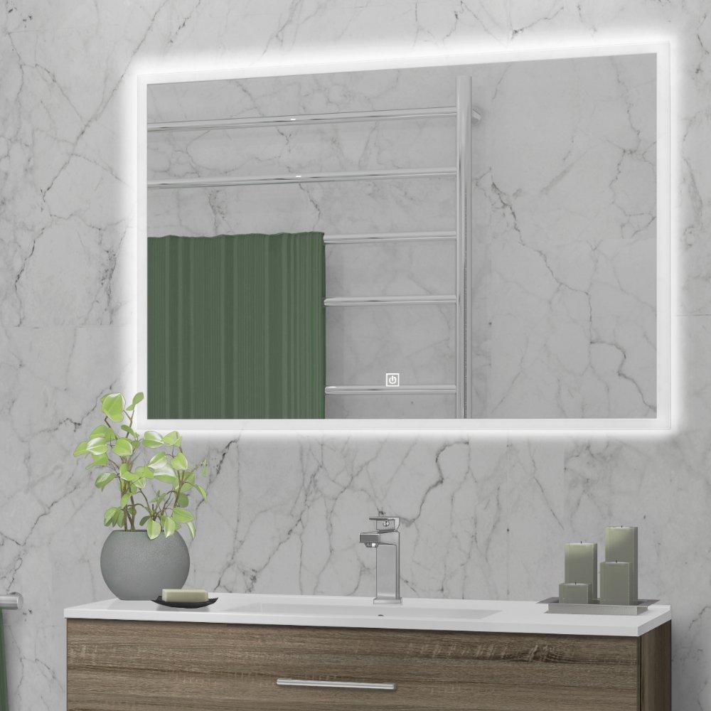 Lexie lysspeil m. touch og dimmer pynter og gir ekstra lys på baderommet.