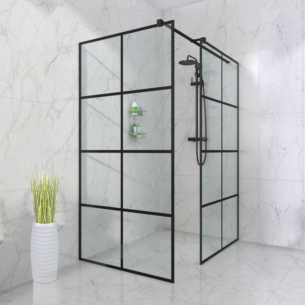moderne Cube dusjkabinett i svart utgave fra Duxa