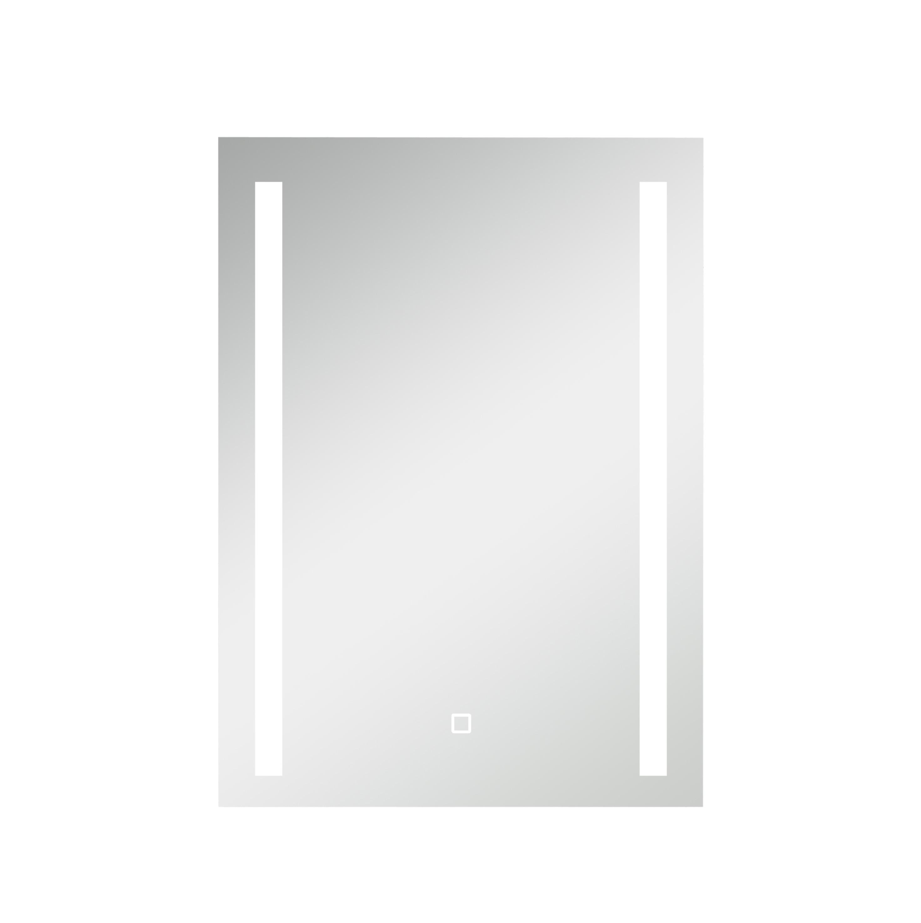 Elba lysspeil med touch bryter er en del av den fleksible baderomsløsningen fra Duxa.