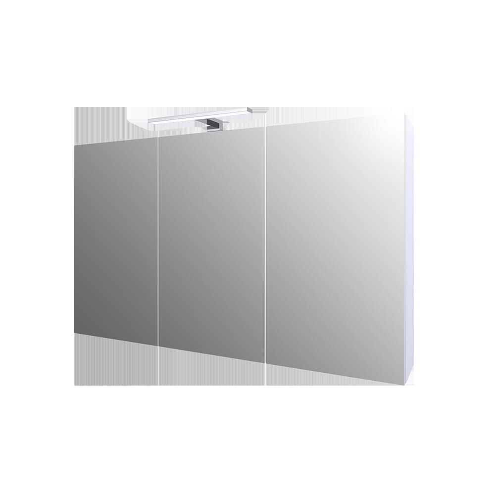Ida speilskap 100 cm er en del av den fleksible baderomsløsningen. Fargen er matt hvit