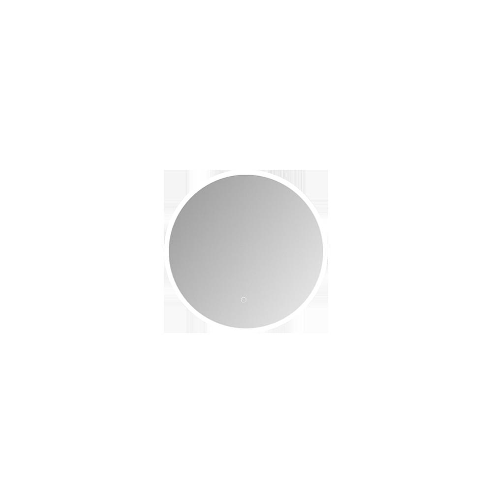 Rundt speil med lys og i et stilig design
