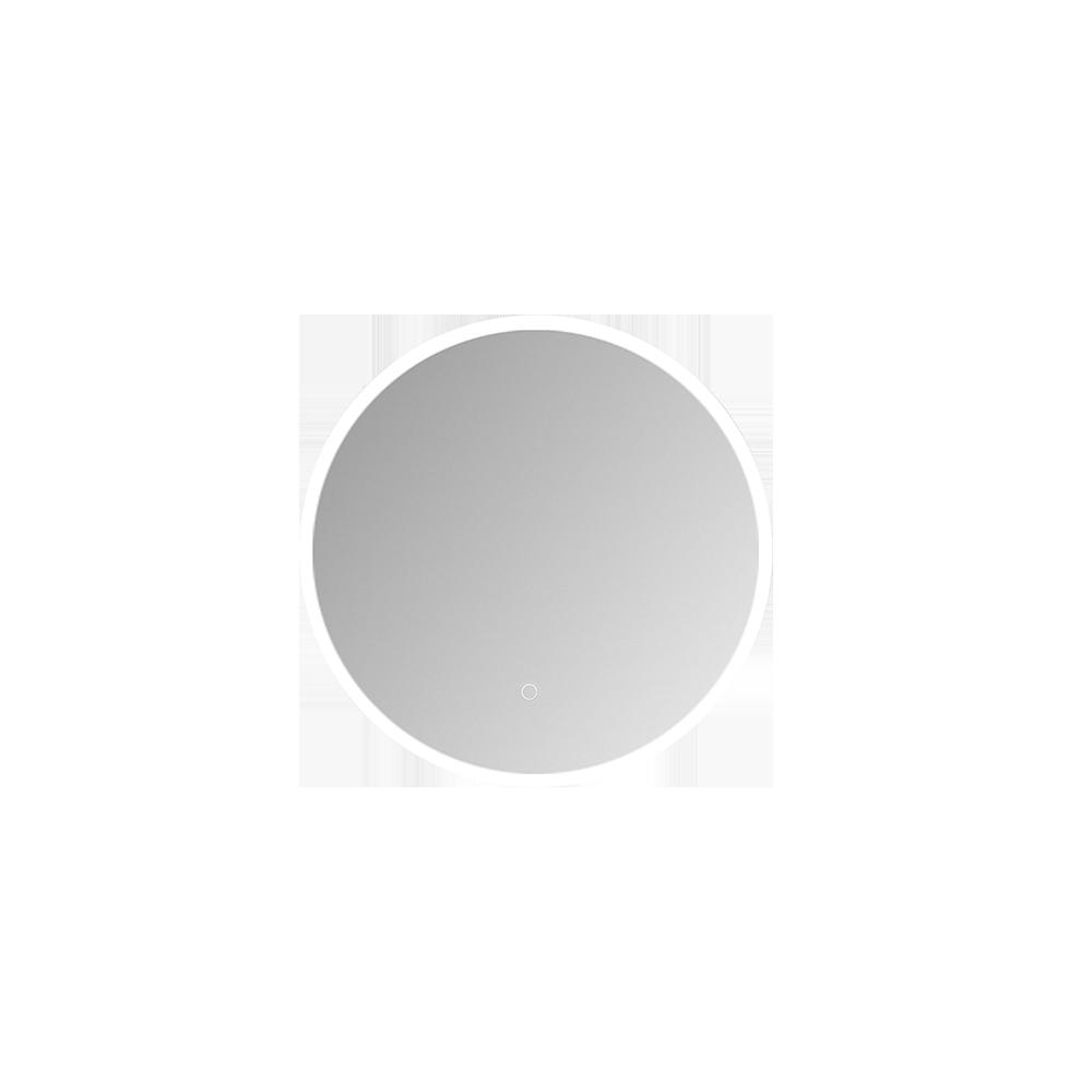 Rundt speil med lys i moderne design fra Duxa