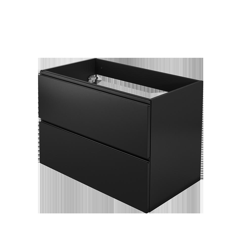 Baderomsmøbel i moderne design og fargen svart fra Duxa baderoms serie