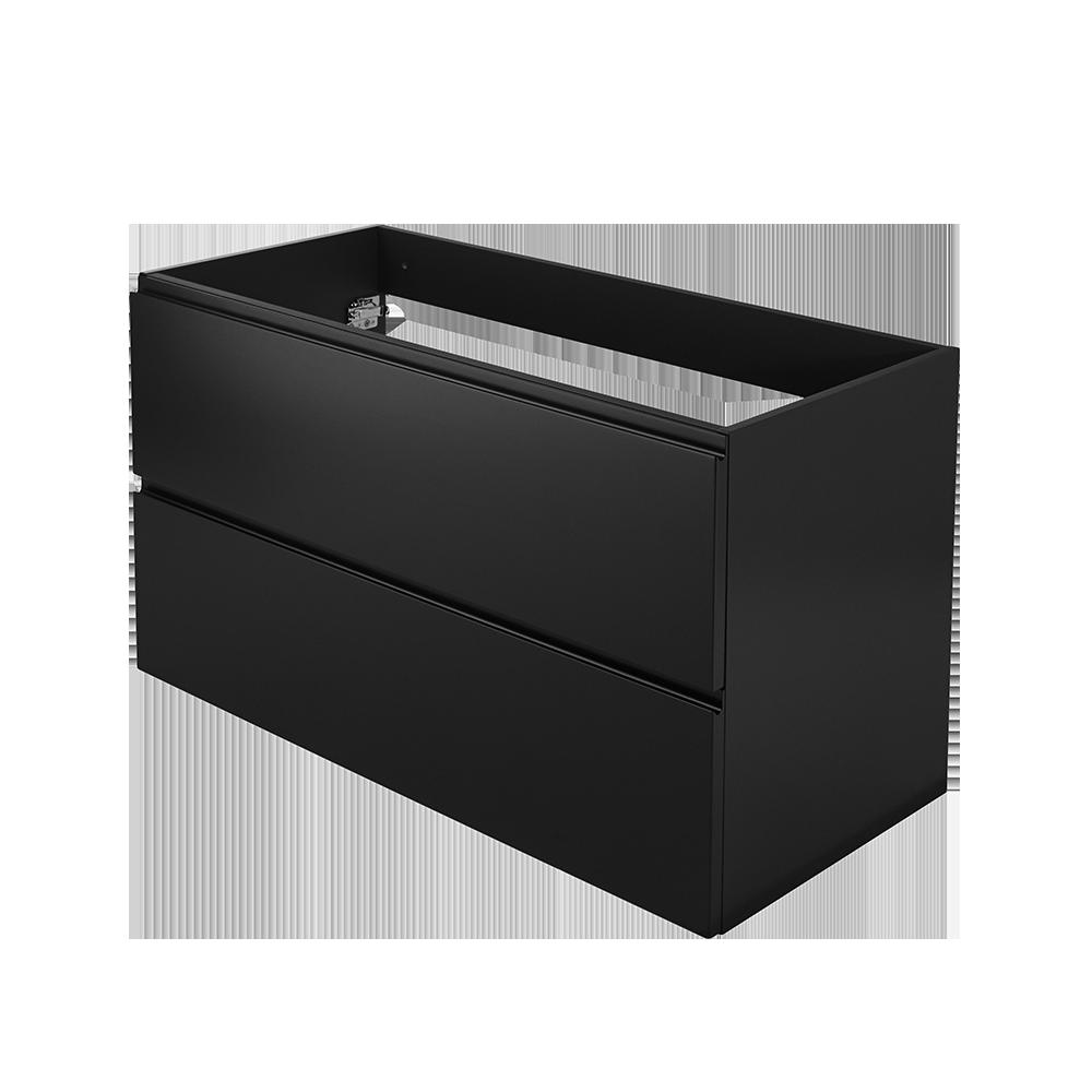 Baderomsmøbel i moderne design og fargen svart fra Duxa