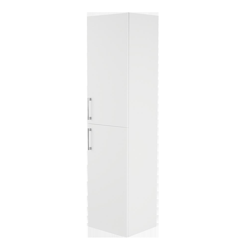 Høyskap i fargen hvit med forkrommet håndtak fra Duxa