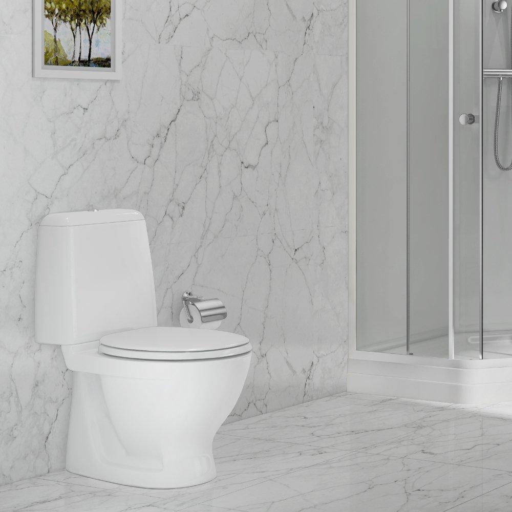 Sintef godkjent Lindesnes toalett med todelt spylefunksjon.