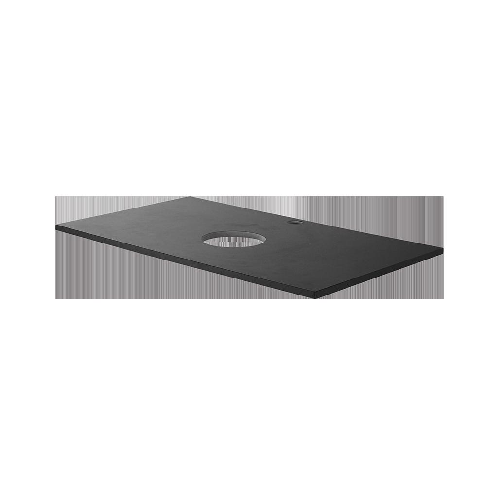Topplate fra Duxa i fargen svart