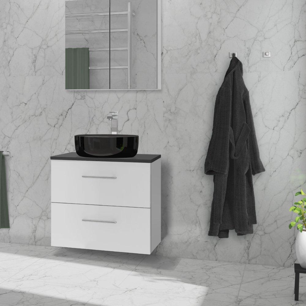 Anna baderomsmøbel 60 cm er en del av den fleksible baderomsløsningen. Kombinér med Helle topplate og velg enten Hype toppvask eller den flate integrerte Duxa hvit porselensservant.