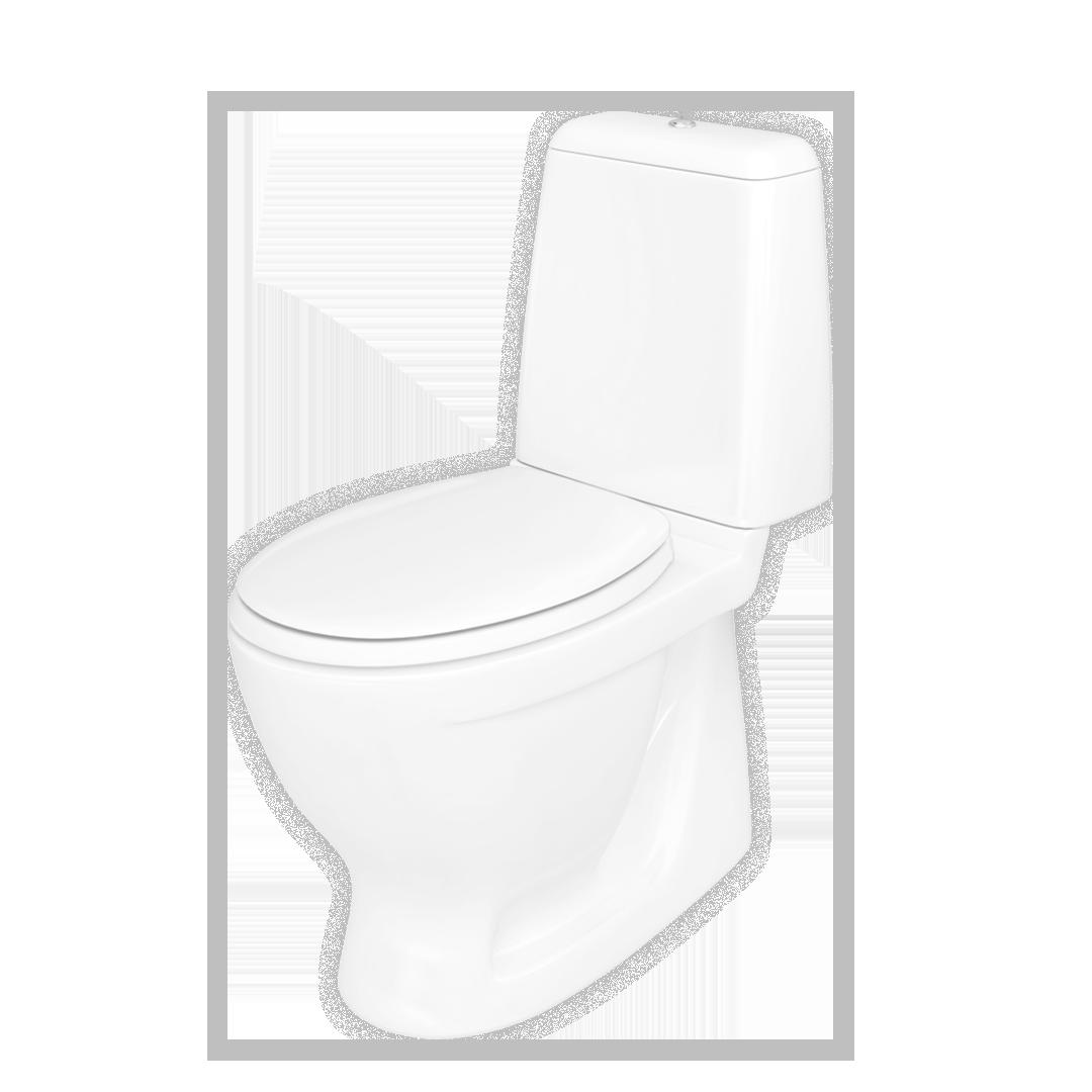 Toalettsetet med soft-close passer perfekt til Lindesnes toalett.