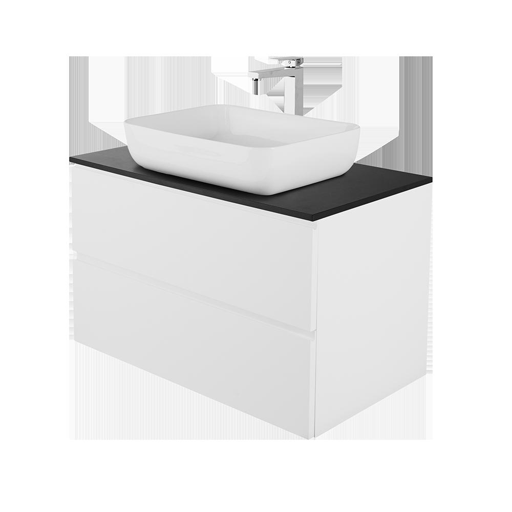 Sara 80 cm baderomsmøbel med vask og forkromet kran