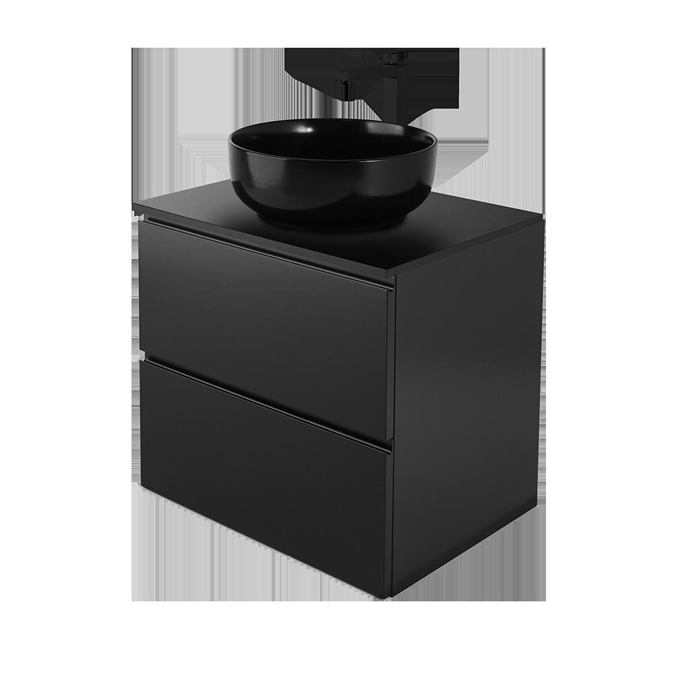 Sara 60 cm baderomsmøbel i fargen svart og moderne design av Duxa