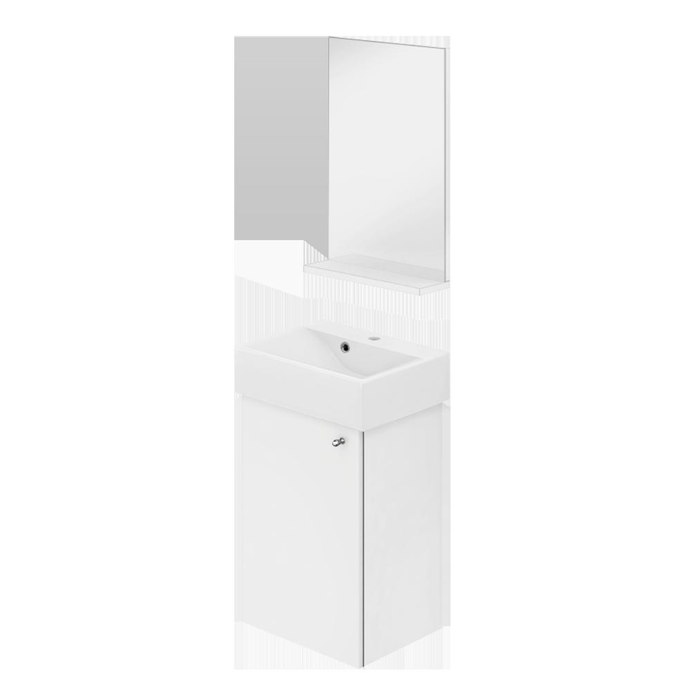 Maria baderomsinnredning er 36 cm bred er en fin modell og prisvennlig alternativ til små baderom.