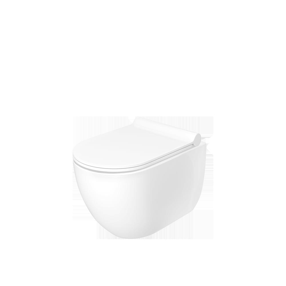 Ona vegghengt toalett i tidsriktig og minimalistisk design.